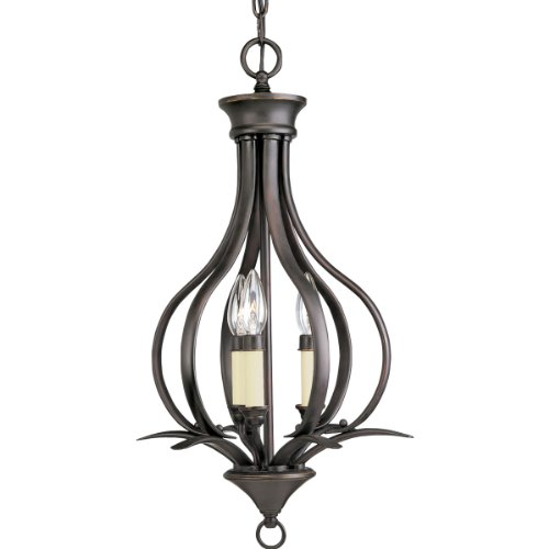Progress Lighting P3807-20 3-Light Hall and Foyer Fixture, Antique (Trinity Antique Bronze Three Light)