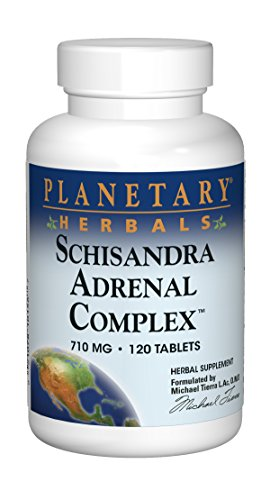 Planetary Herbals Schisandra Adrenal Complex 710mg With Yam Rhizome, Poria Sclerotium & More - 120 Tablets