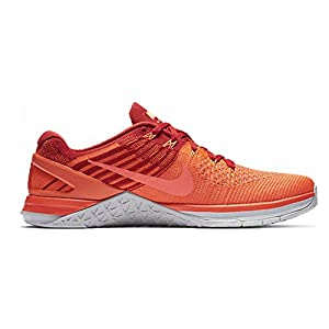 NIKE Mens Metcon DSX Flyknit Training Shoe (11.5 D(M) US, Total Crimson/Hyper Orange)