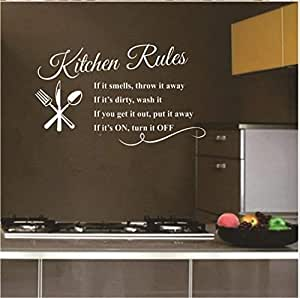 English Rumors Carved Kitchen Rule Creative Kitchen Wall Stickers