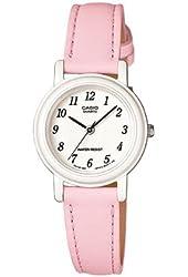 Casio Women's Light Pink Genuine Leather Analog Watch LQ139L-4B1