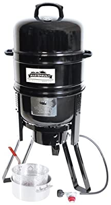 Masterbuilt M7P 7-in-1 Smoker and Grill with Pan and Basket Set from Masterbuilt