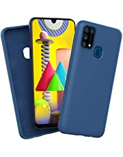 ROCK Samsung Galaxy M31 Cover Liquid Silicone Soft TPU Case Ultra Thin Shockproof Bumper Cover (BLUE)