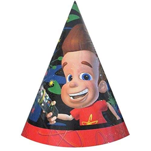 (JIMMY NEUTRON CONE HATS (8) ~ Birthday Party Supplies Favors Nickelodeon)