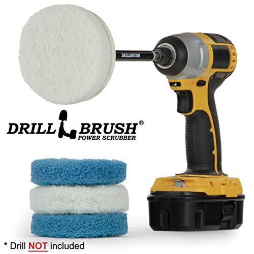 Drill Brush Power Scrubber Pads - Kitchen - Stove - Cleaning Pads - Cooktop - Oven Rack - Kitchen Scrubbers For Dishes - Pot Scrubber - Kitchen Sink - Vinyl Flooring - Drill Scrubber Attachment - Rust Vinyl Flooring