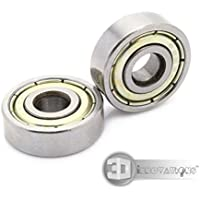 3D Innovations 626ZZ Miniature Deep Groove Ball Bearing 6X19X6 mm For 3D Printer For CNC (Quantity: 4 Pcs)