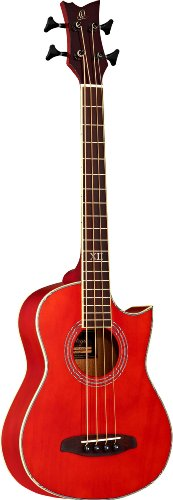 Ortega Guitars D-WALKER-RD Deep Series Extra Short Scale Acoustic Bass with Agathis Top and Body (Agathis Bass)