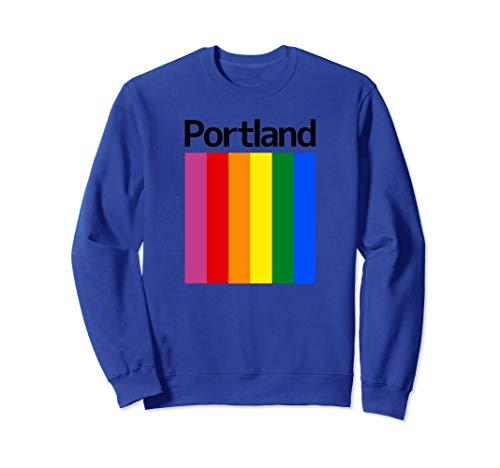 Portland Rainbow Square Design - Portland Oregon Sweatshirt