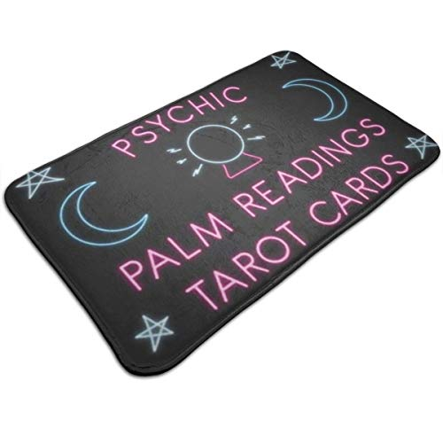 HomMashic Psychic Palm Readings Tarot Cards 50 X 80 cm Bathroom Mat Anti Slippery Polyester Door Floor Mat Indoor/Outdoor/Front Entrance Welcome Doormat