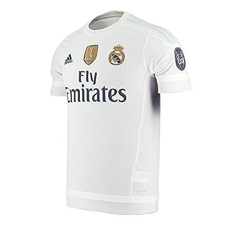 adidas 1ª Equipación Real Madrid 2016 - Camiseta oficial, edición especial Champions League, talla L: Amazon.es: Zapatos y complementos