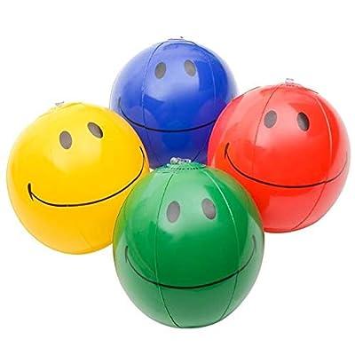 Rhode Island Novelty 6 Inch Smiley Face Beach Balls, One Dozen per Order: Toys & Games