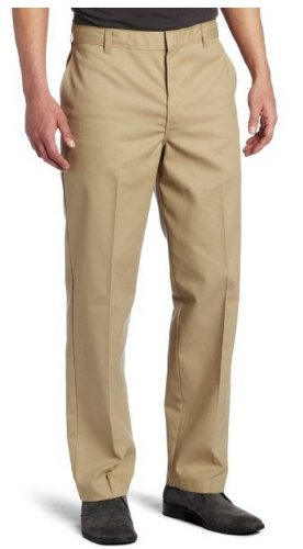 Dickies Men's Flat Front Pant, Khaki, 30X34 by Dickies