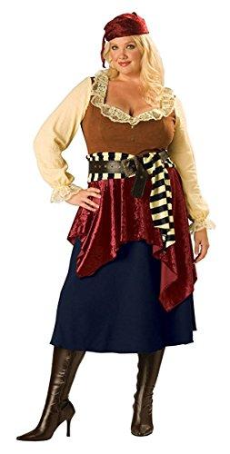 Plus Size Iron Woman Costume (Buccaneer Beauty Costume - Plus Size 2X - Dress Size 20-22)