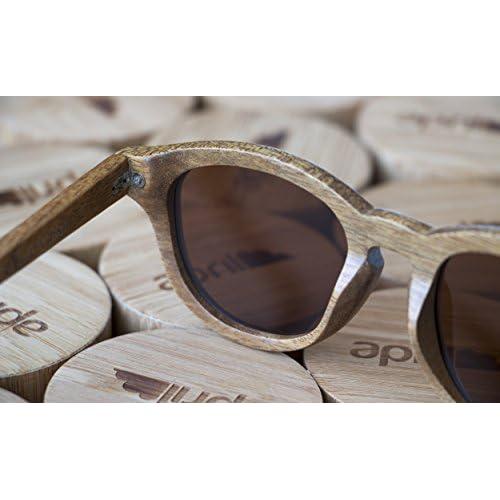35b2b12e3c Bueno wreapped april® Gafas de sol de madera cristal polarizado polarizadas  hechas a mano hombre