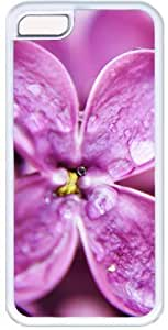 Dew Drops On Purple Lilac Flowers Apple iPhone 5C Case, iPhone 5C Cases Hard Shell Cover Skin Cases
