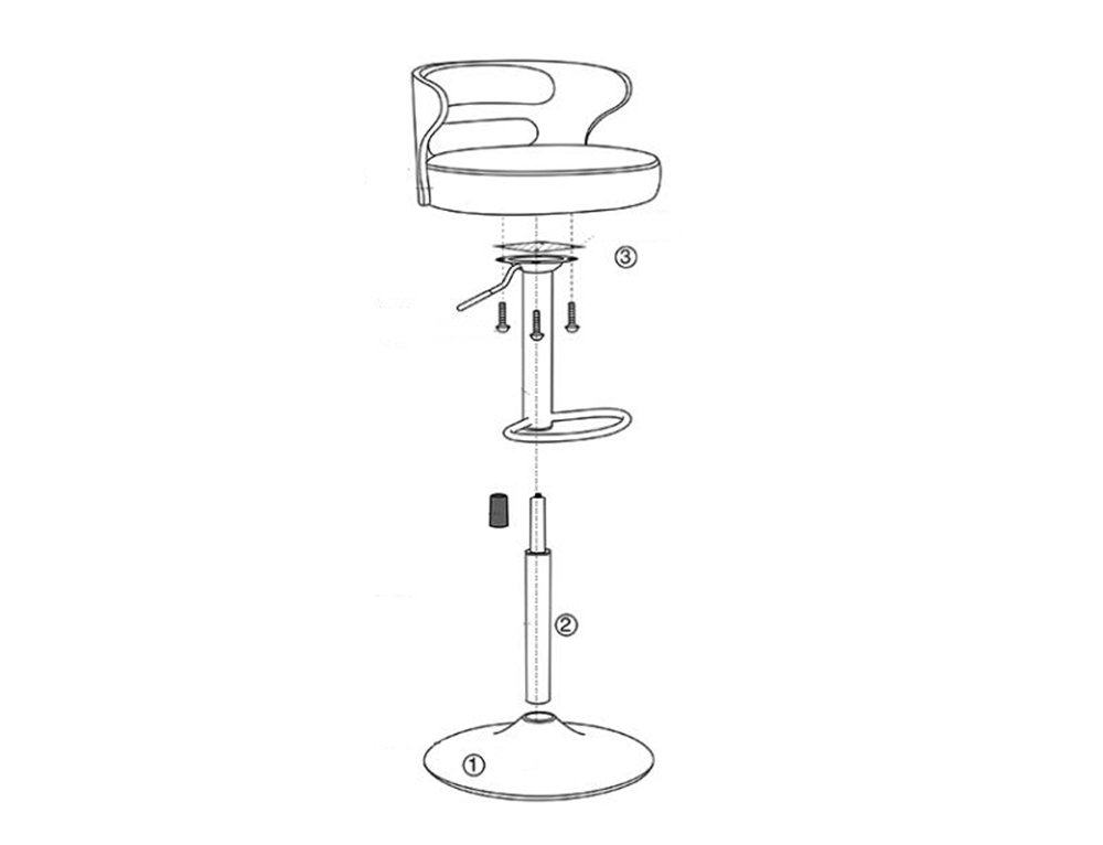European style retro bar chairs / front desk fashion bar stool / simple high stool, lift rotation ( Style : A )