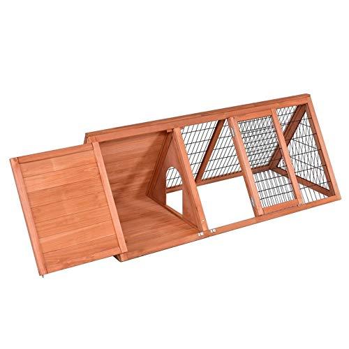 Teekland 50″ Wooden Rabbit Guinea Pig House Chicken Coop Bunny with Run