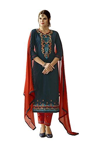 Da Facioun Indian Women Designer Partywear Ethnic Traditonal Green Anarkali Salwar Kameez by Da Facioun
