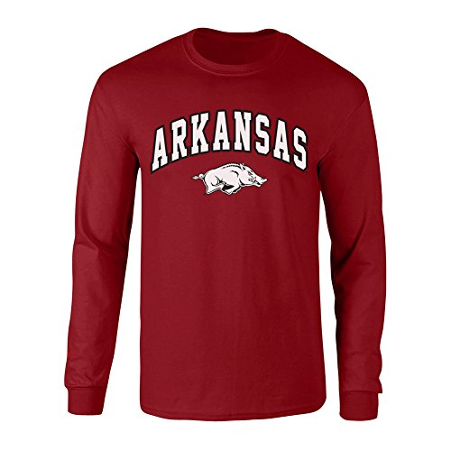 Arkansas Razorbacks Arch - Elite Fan Shop Arkansas Razorbacks Long Sleeve Tshirt Arch Cardinal - XXL