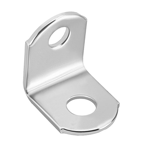 uxcell Corner Brace, 18mmx18mmx15mm, Stainless Steel Joint Round End L Shape Angle Brackets Fastener, Pack of 25