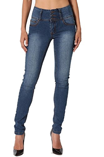 Dustin Clothes Women'S Hip Up Butt Lifting High Rise Wide Waistband Denim Skinny Jeans