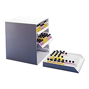 Bel-Art Scienceware 186610000 Polystyrene Lab Fridge Tray Rack with 9 Channels