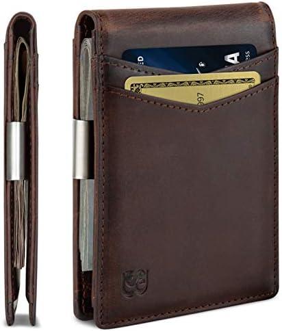 Slim Leather Wallet Money Clip Credit Card Holder for Men RFID Blocking New AU
