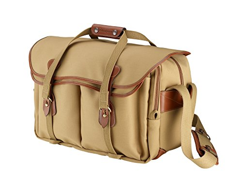 Billingham 555 Camera Bag (Khaki Canvas / Tan Leather)