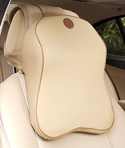 Anyshock Car Headrest Memory Foam Car Neck Pillow Travel Auto Head Neck Rest Cushion with Ergonomically for Adjust Sitting Position Relief Pain of Back/Spine/Coccyx in (Car Headrest Pillow)