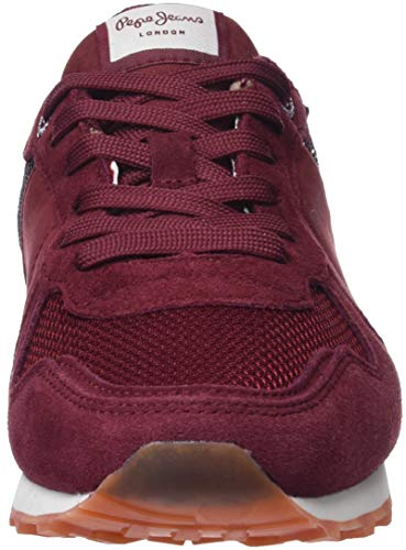 Femme Pepe New 2 Dk Sneakers Sequins Rouge Basses W Verona Jeans 499 Wine ZxH8Z4B