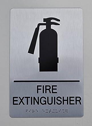 Amazon.com: Señal de extintor de incendios – Ada cartel. 6 ...