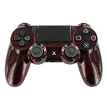 """Blood Red Skulls"" PS4 Custom UN-MODDED Controller Exclusive Design [video game]"