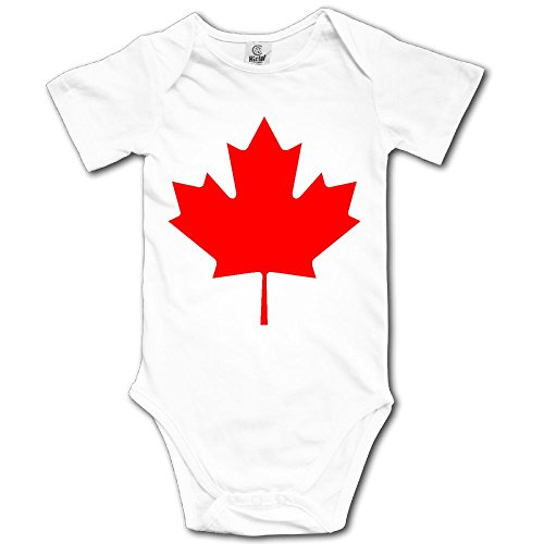 Baby Climbing Clothes Set Canada Maple Leaf Bodysuits Romper Short Sleeved Light Onesies ()