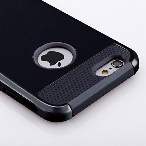 iPhone 6S Plus Case, technext020 Black Armor Case for iPhone