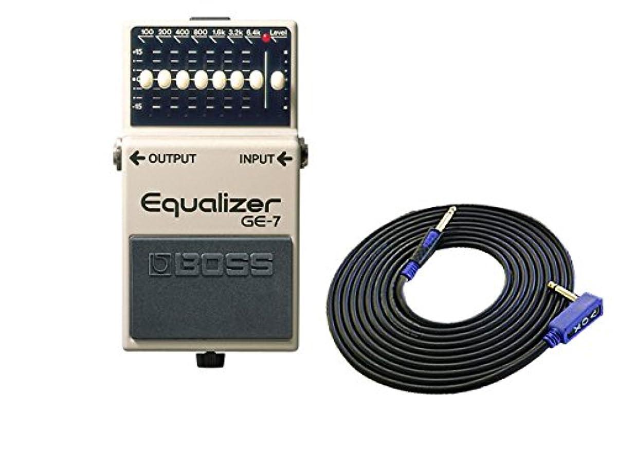 [해외] BOSS 콤팩트 이펙터 EQUALIZER GE-7 + 3M 기타 케이블 VOX VGS-30 세트
