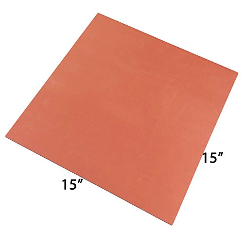 ePhotoInc Silicone Pad Flat Heat Press Replacement Heat Resistant Silicone Mat 15 x 15 inches 15MatRed by ePhotoinc