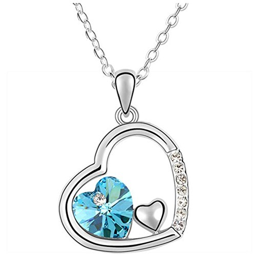 LuxuryLady The New Sexy Pendant Inner Heart Simple Fashion Austrial Crystal Female Gift (Cute Homemade Ladybug Costumes)