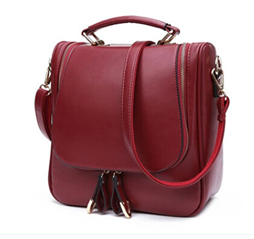 Somay - Bolso de tela para mujer granate (Wine red) granate (Wine red)