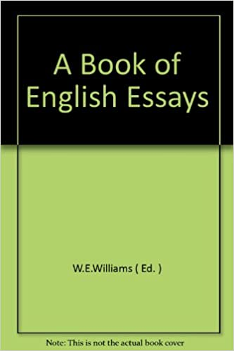 a book of english essays we williams amazoncom books
