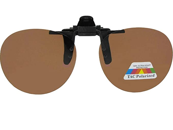 f9c76fd046 Sunglass Rage Round Polarized Flip up Clip on Sunglasses (Black Frame  Polarized Amber Lenses