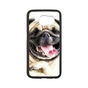 Generic for Samsung Galaxy S6 Cell Phone Case Black Pocket Pug Custom 2063
