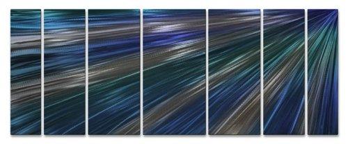 Blue Rays Of Light Metal Wall Decor