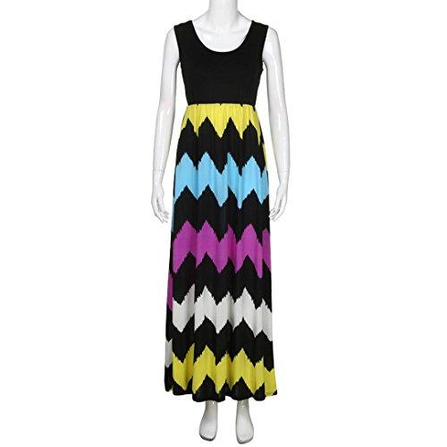 Verano Rayado talla Sundress Vestido STRIR Maxi Vestido Vestidos Boho Lady de largo Vestidos mujer Mujer Mujer Largos 2018 de Beach grande Vestido Multicolor Fiesta Verano de HFqX8wqZn