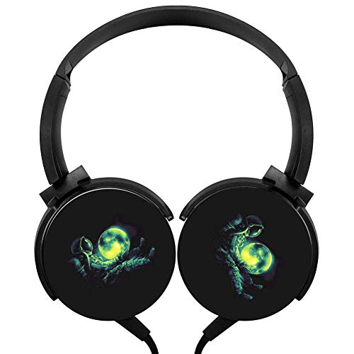 Wired Stereo Headphone Moon Play Portable Noise Cancelling Over Ear Headset Earphone Earpiece