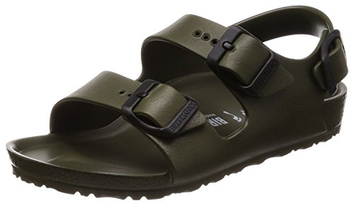 Birkenstock Milano, Boys' Slingback, Green (Kaki Kaki), 10 Child UK (28 EU) ()