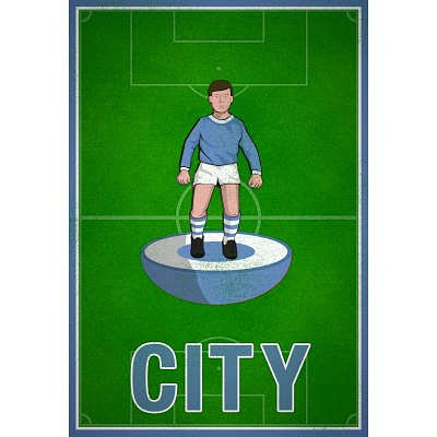 (12x18) City Football Soccer Sports Indoor/Outdoor Plastic Sign
