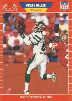 (1989 PRO SET # 473 WESLEY WALKER JETS FOOTBALL)