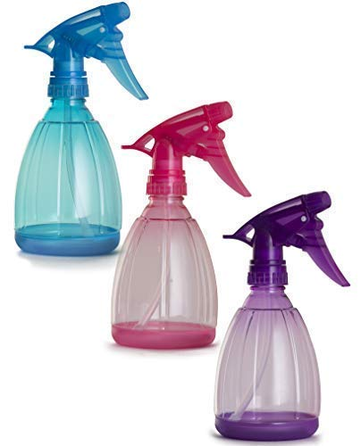 Empty Spray Bottles – 12 Oz Refillable Sprayer – pack of 3 – for Essential Oil, Water, Kitchen, Bath, Beauty, Hair, and Cleaning – Durable Trigger Sprayer with Mist Stream Modes