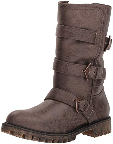 (Roxy Women's Rebel Multi Strap Boot Fashion, Chocolate, 6 M US)