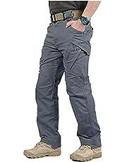laoonl Tactische broek voor heren, outdoor waterdichte broek, multi-pocket combat cargo Ripstop broek, legerbroek, lange broek, kleding voor kamperen, casual werk wandelen